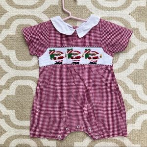 Lil Cactus 2t baby boy Christmas romper